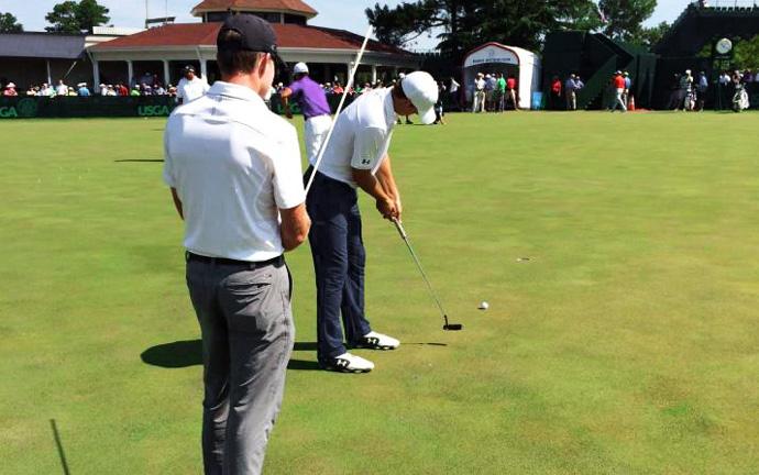 Jordan Spieth Golf Pro Practice