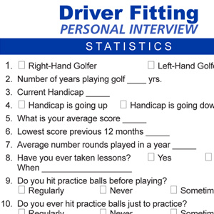 Driver Fitting Interview
