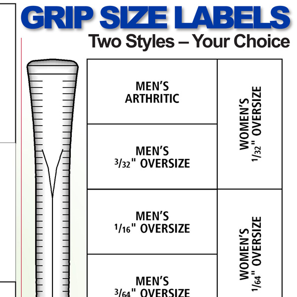 Grip Size Labels Preview