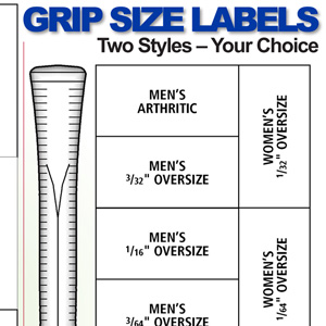 Grip Size Labels