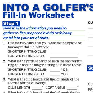 Into A Golfers Set of Clubs Fill-In Worksheet