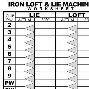Iron Loft and Lie Machine Worksheet