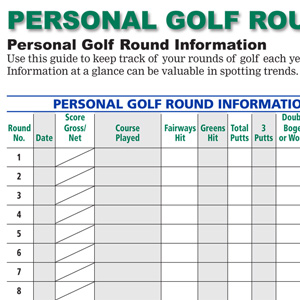 Personal Golf Round Information