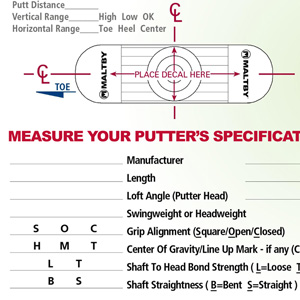 Putter Tune Up Procedure Worksheet