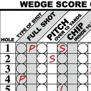 Wedge Score Card