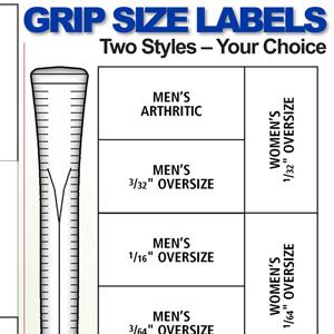 Grip Size Labels